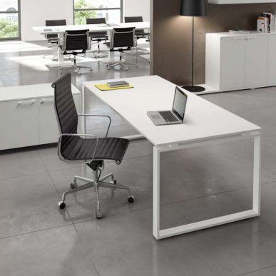 executive office desk / wooden / metal / contemporary
