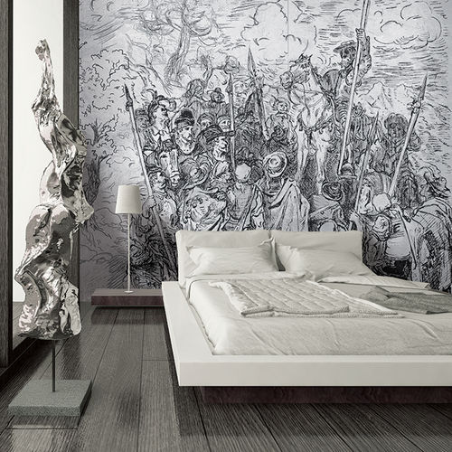 Contemporary wallpaper / fabric / vinyl / nature pattern HOMAGE TO DÜRER Skinwall