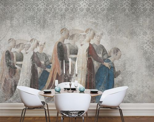 Contemporary wallpaper / fabric / vinyl / damask PIERO DELLA FRANCESCA Skinwall