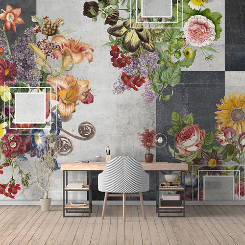 Contemporary wallpaper / fabric / vinyl / floral BAD ROMANCE Skinwall