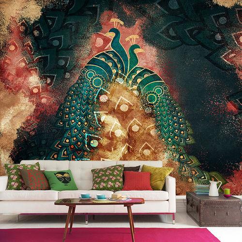 contemporary wallpaper / fabric / vinyl / animal motif