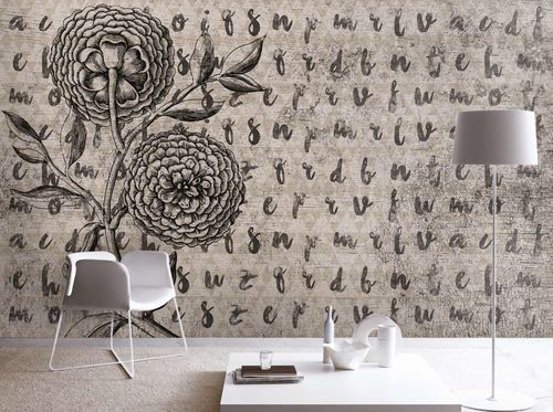 Contemporary wallpaper / fabric / vinyl / floral DAHLIA'S MEMORIES Skinwall