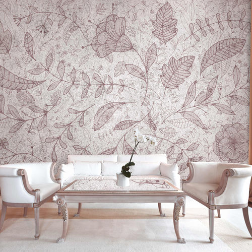 Contemporary wallpaper / fabric / vinyl / floral FLORAL ATMOSPHERE Skinwall
