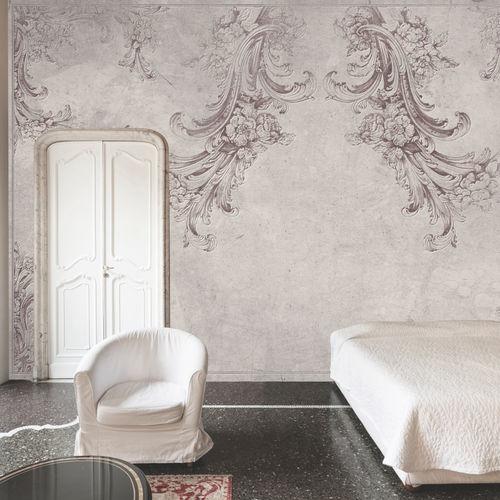 contemporary wallpaper / fabric / vinyl / floral