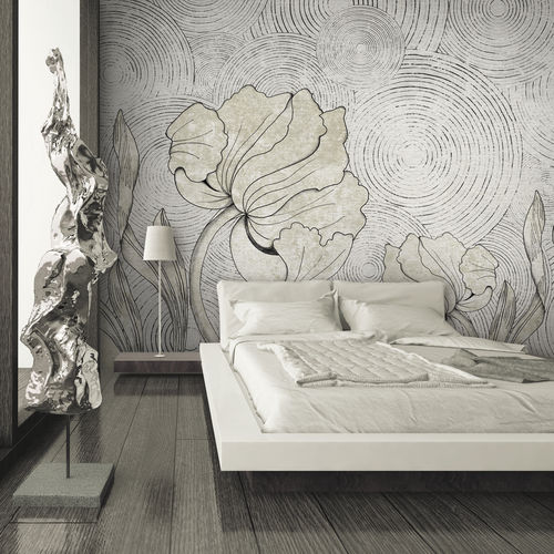 Contemporary wallpaper / fabric / vinyl / floral IN BLOOM Skinwall