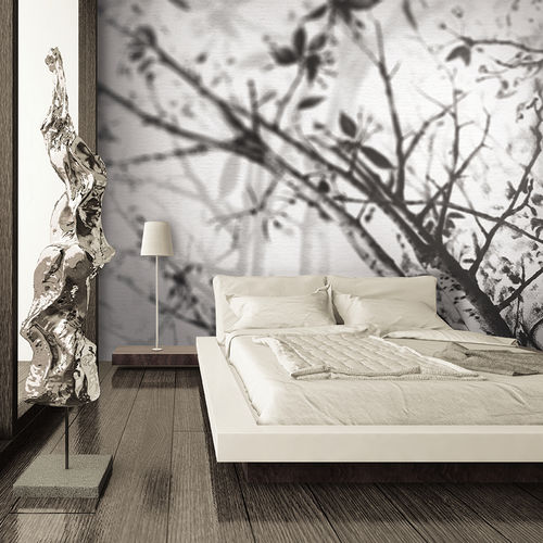 Contemporary wallpaper / fabric / vinyl / nature pattern IN THE SHADOWS Skinwall