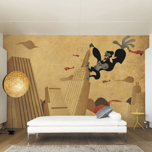 Contemporary wallpaper / fabric / vinyl / animal motif KING KONG Skinwall