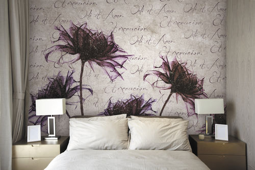 Contemporary wallpaper / fabric / vinyl / floral LIBER Skinwall