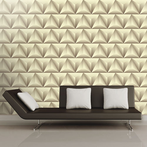 Contemporary wallpaper / fabric / vinyl / geometric pattern LIGHTS & SHADOWS Skinwall