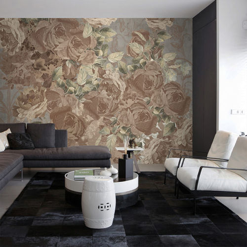 traditional wallpaper / fabric / vinyl / floral
