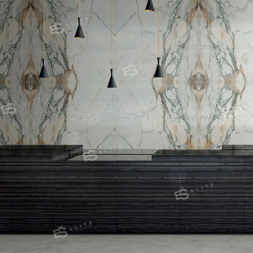 Indoor tile / wall / marble / patterned INTERIORS : CUCINA PAONAZZO Elite Stone