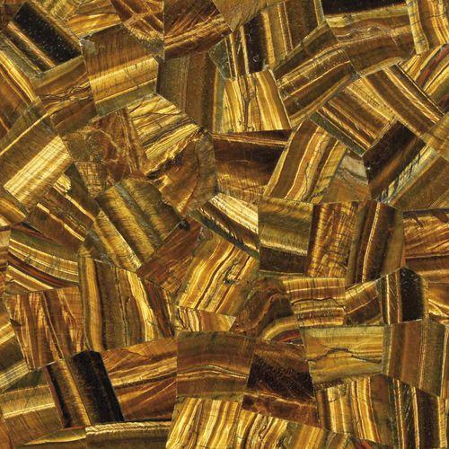 Indoor tile / wall / for floors / semiprecious stone TIGER EYE GOLD RANDOM Elite Stone