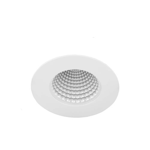 recessed ceiling downlight / LED / round / steel