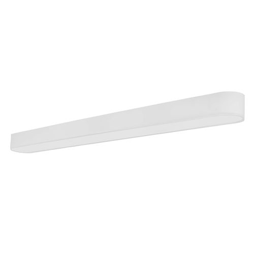 surface-mounted light fixture / LED / linear / steel