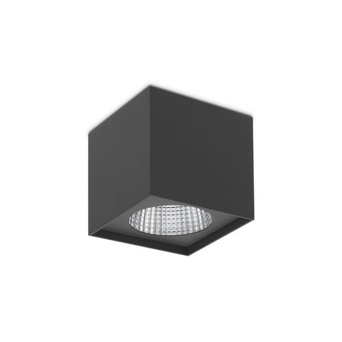 surface-mounted light fixture / LED / square / for clean rooms