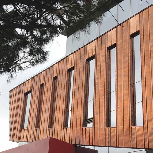 copper cladding / composite / stainless steel / smooth