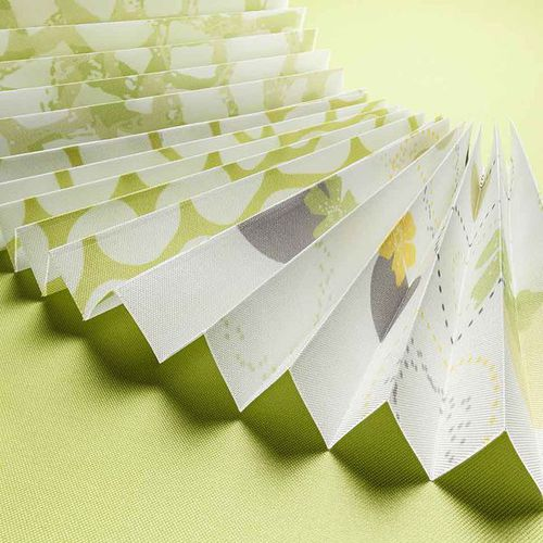 pleated blind fabric / solar protection / patterned / plain