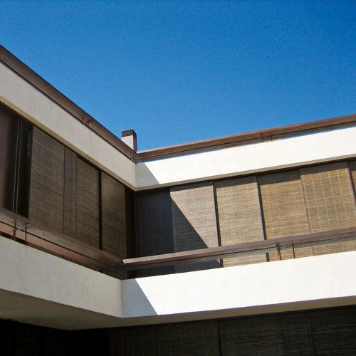 roller blinds / wooden / PVC / outdoor