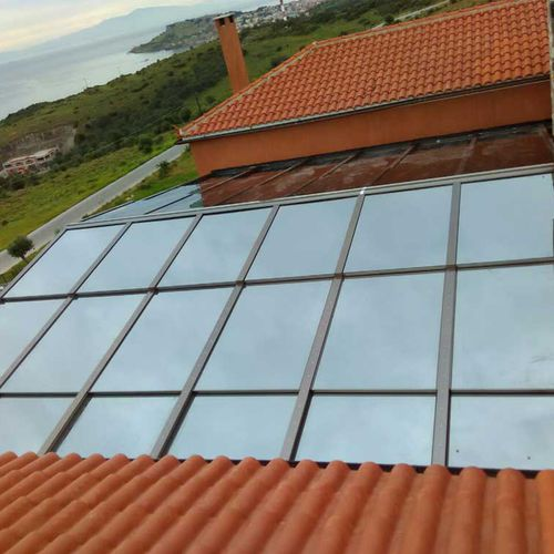 sliding roof window / aluminum / double-glazed / electric