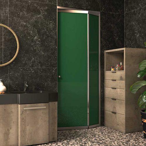 indoor door / folding / glass / aluminum