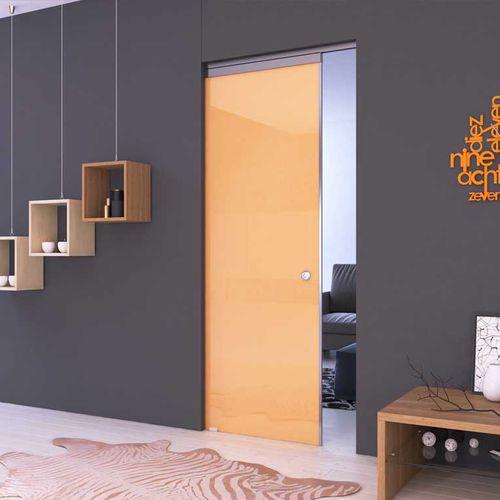 indoor door / sliding / glass / aluminum