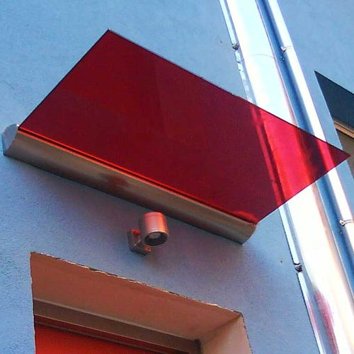 entrance canopy / glass / aluminum / commercial