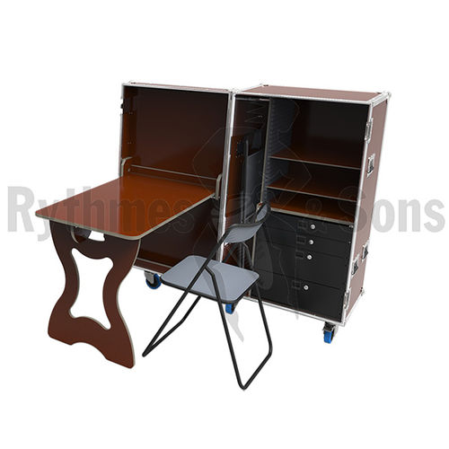 workstation desk / plywood / industrial design / commercial