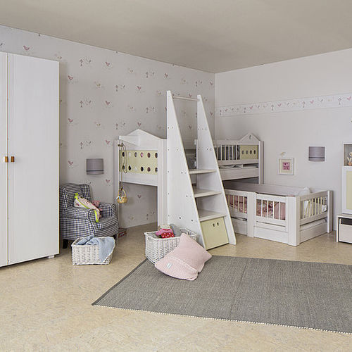 bunk bed / canopy / single / contemporary