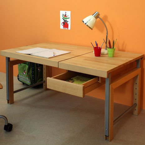 wooden desk / melamine / contemporary / adjustable