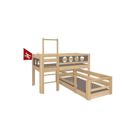 corner bunk bed / canopy / single / contemporary