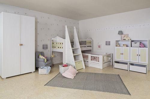 white children's bedroom furniture set / unisex / baby