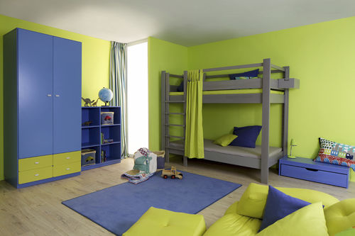blue children's bedroom furniture set / green / unisex