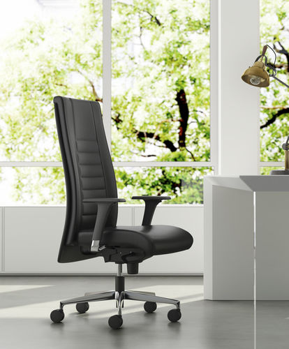 contemporary executive chair / leather / fabric / synthetic leather