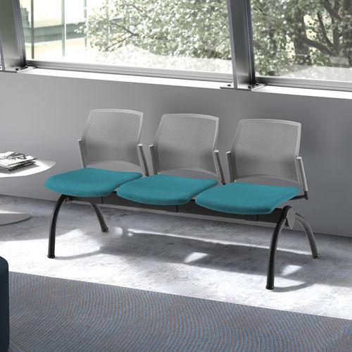 steel beam chair / fabric / polypropylene / 3-seater