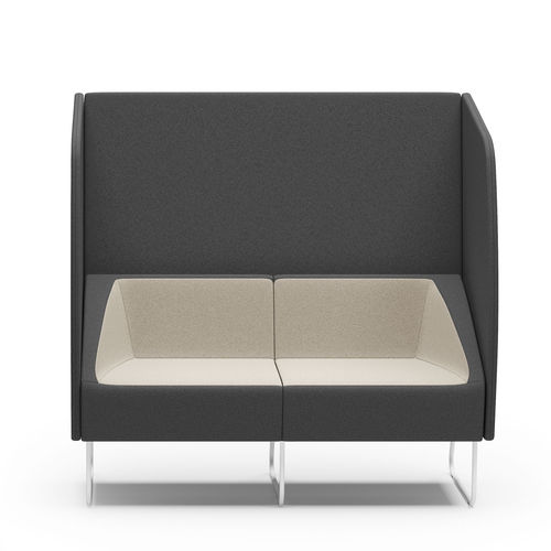 contemporary sofa / fabric / steel / for public buildings