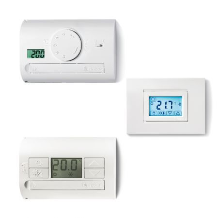 programmable thermostat / digital / wall-mounted / recessed wall