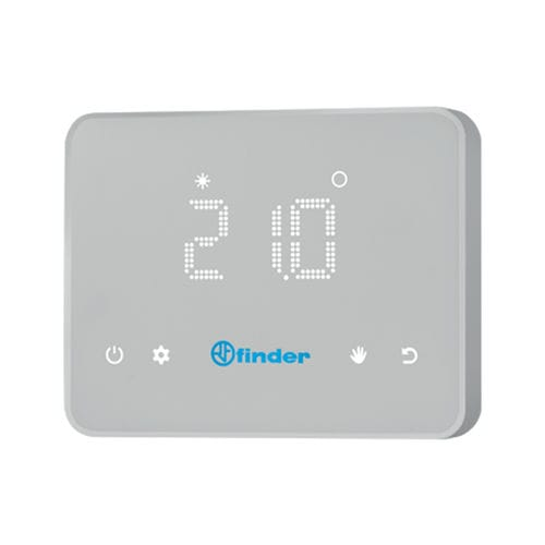 programmable thermostat / wall-mounted / for heating / for air conditioning