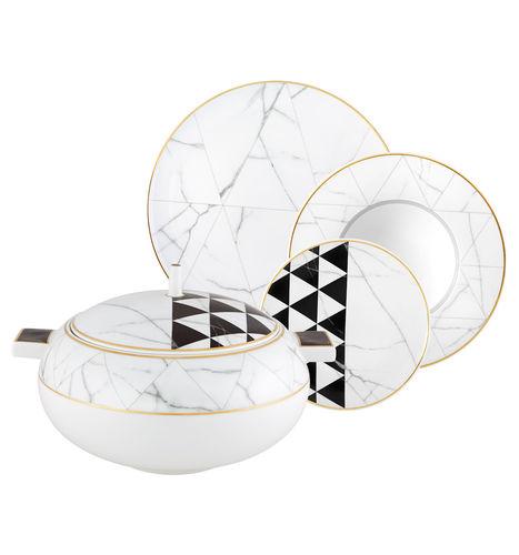 porcelain tableware / for gourmet restaurants / home