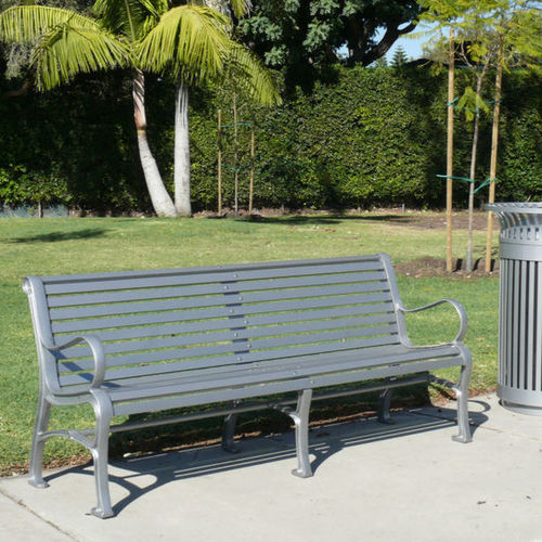 public bench / contemporary / cast iron / cast aluminum