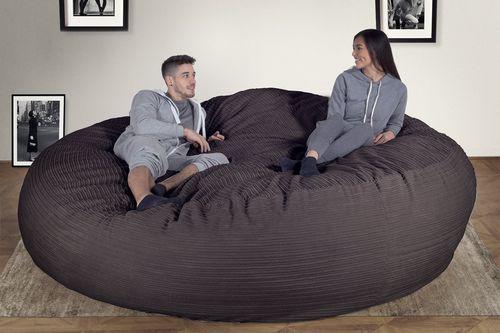 contemporary bean bag / fabric / double / gray