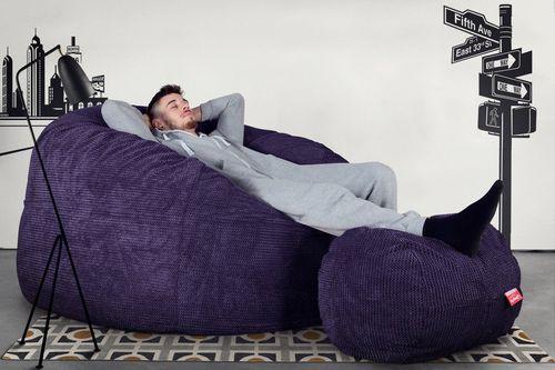 contemporary bean bag / fabric / double / violet