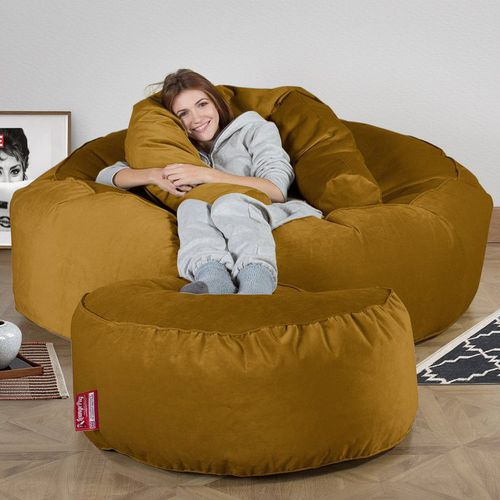 contemporary bean bag / fabric / double