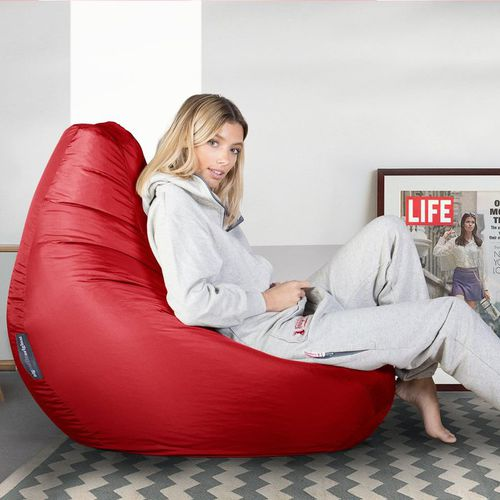 contemporary bean bag / fabric / red / outdoor