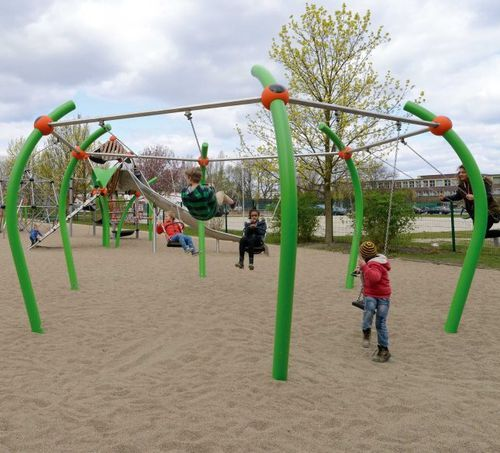 metal swing / playground / multi-person