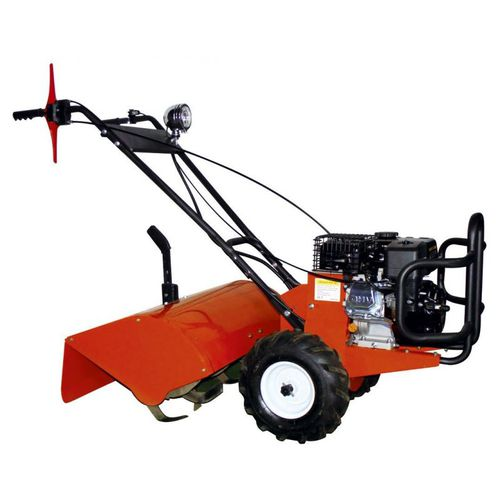 gasoline engine rototiller / with gauge wheels