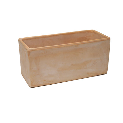clay planter / terracotta / rectangular / contemporary