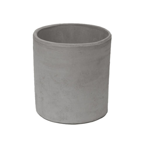 clay garden pot / terracotta / round