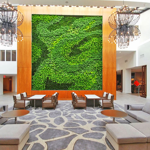 green wall with live plants - GSky Plant Systems, Inc.