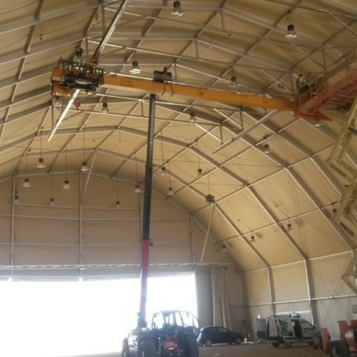 metal frame tensile structure / roof / for industrial applications