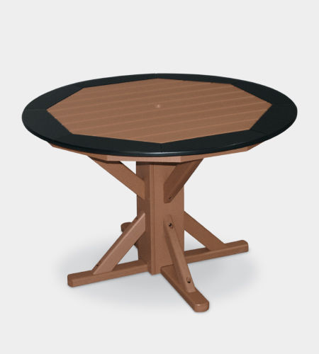traditional dining table / plastic / round / outdoor